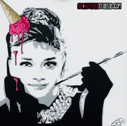 Audrey Ice Cream Hepburn by StephenQuick