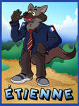 (Commission) Etienne Badge by CameronHops