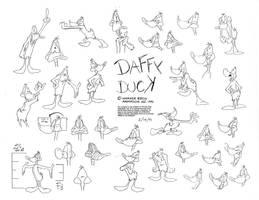 Daffy Duck Model Sheet Ver. 4 by guibor