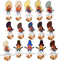 Yosemite Sam Coyboy Outfits Templates Part 1 by guibor