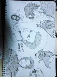 sketch_Tim,Damian,Others by zombie0707