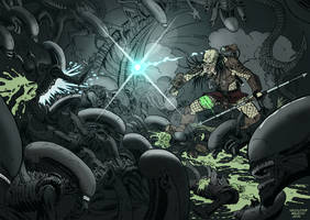 Aliens versus Predator by KrzysztofMalecki