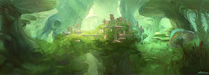 Concept-The Castle in the Woods by Ashramart