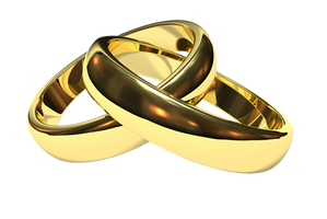 Golden Couple Ring PNG by Jujoy1990