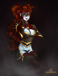 Alexandria Draconic Bloodline Armour complete by MKRUdesign