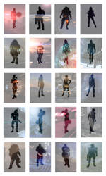Mass Effect/The Squad Silhouettes by lucylucycoles