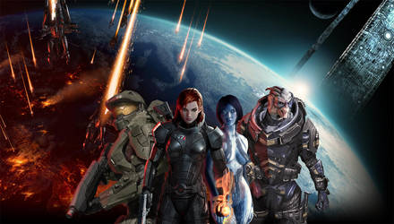 Mass Effect/Halo Mashup by lucylucycoles