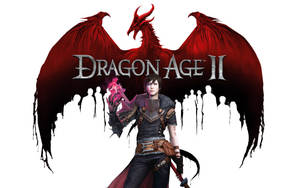 Dragon Age 2 Logo/Female Hawke by lucylucycoles