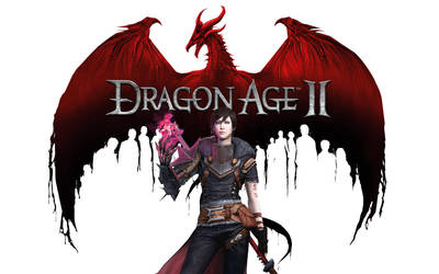 Dragon Age 2 Logo/Female Hawke by lucylucycoles