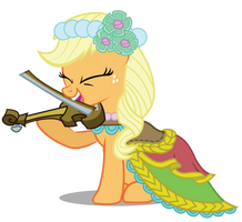 Applejack the Fiddler by birthofthepheonix