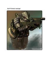 Sci-Fi Armor concept by sirjoepanzer