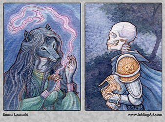 ACEO: Sashah and Richard by emmalazauski