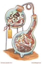 Bottled: Smokey Salamanders by emmalazauski