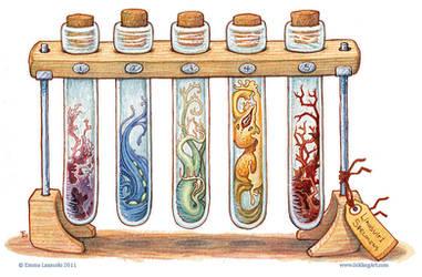 Bottled: Test Tube Slimes by emmalazauski