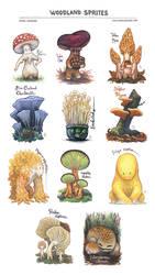 Woodland Sprites Print by emmalazauski