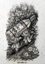 Inktober 18 Bottle by emmalazauski