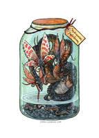 Bottled: Butterflydra by emmalazauski