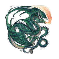 Green Wyvern by emmalazauski