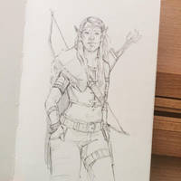 Wood Elf Sketch 7/10/17 by ZaraAlfonso