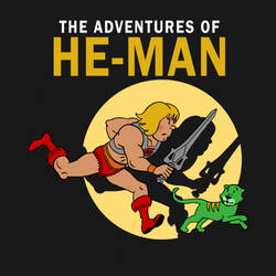 He-man Tintin Shirt by markwelser