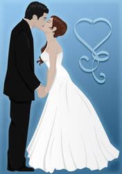 Wedding Art - First Kiss by mizziness