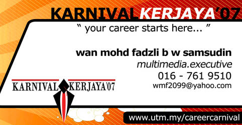 Business Card Karnival Kerjaya by wavemetafora