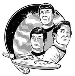Kirk, Spock, and McCoy by Vast-Cerulean
