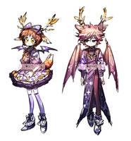 [CLOSED] Adopt - Deer sisters ( Devil #6 ) by Titi-S2