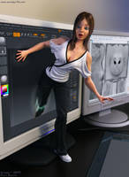 Thats one small step for a CG model one giant leap by Woodys3d