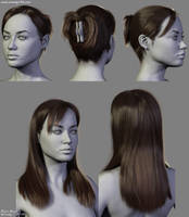 4 New Hairstyles (2) by Woodys3d