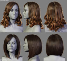 4 New Hairstyles (1) by Woodys3d