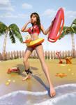 Samantha Lifeguard by Woodys3d