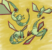 Flygon Poses by Rexoss