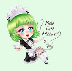 Maid cafe chibi by Solceress