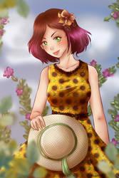 Random sunflower girl by Solceress