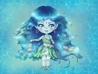 Water chibi by Solceress