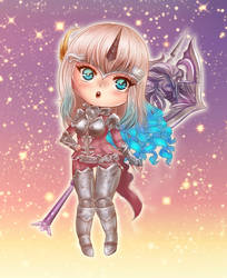 Warrior chibi AION by Solceress