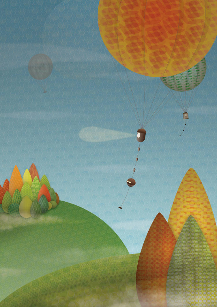 Balloons over the hills by JCallius