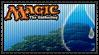 Magic - Blue Mana Stamp by reggiewolfpro