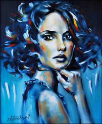 woman - blue. by danieleski