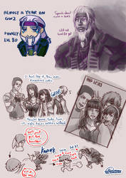 Some GW2 doodles by Natsumi1122