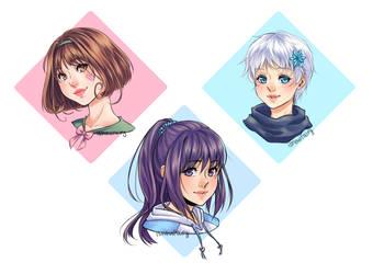 Colored Headshots by iSnowFairy
