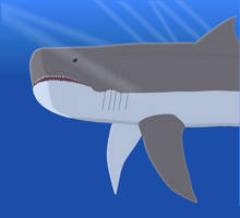Megalodon Is Not Amused by sharkboy17