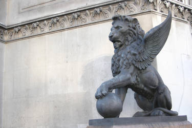 Stock Winged Lion Statue by Sheiabah-Stock