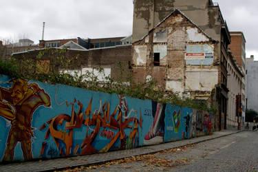 Graffiti Wall Stock by Sheiabah-Stock