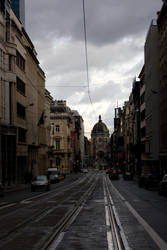 Belgian Street Tram Stock by Sheiabah-Stock