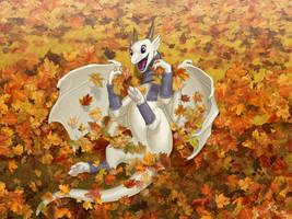 Leaves play(reupload, SFW version) by KodarDragon
