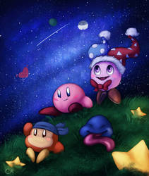 Commission - Kirby and his Dream Friends by SuperKirby777
