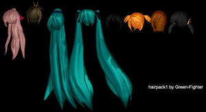 MMD hairpack1+DL by Fina-Nz