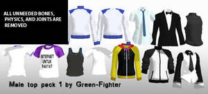 MMD male top pack+DL by Fina-Nz